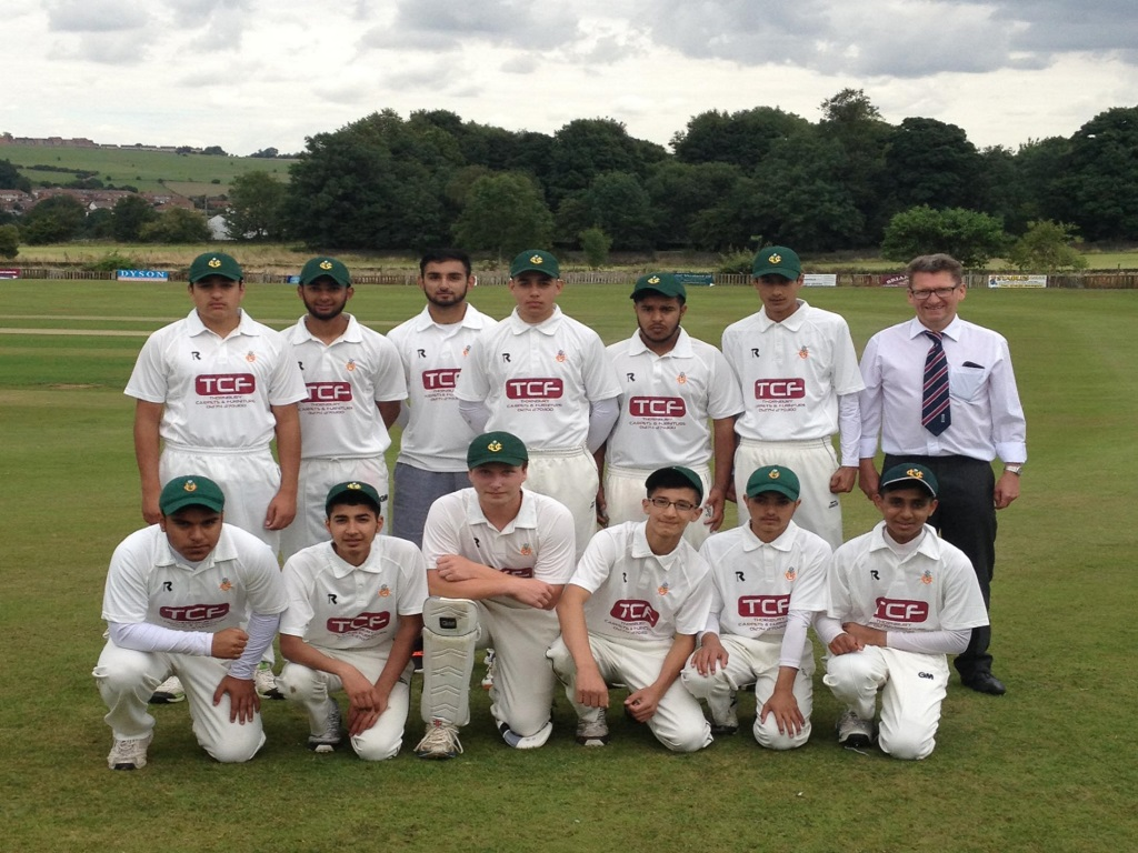 U17 XI Cup Final Team & Mick Brearley, Team Manager